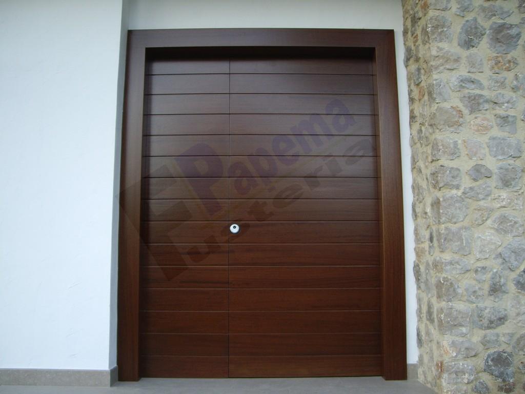 galeria puertas exteriores fusteria papema